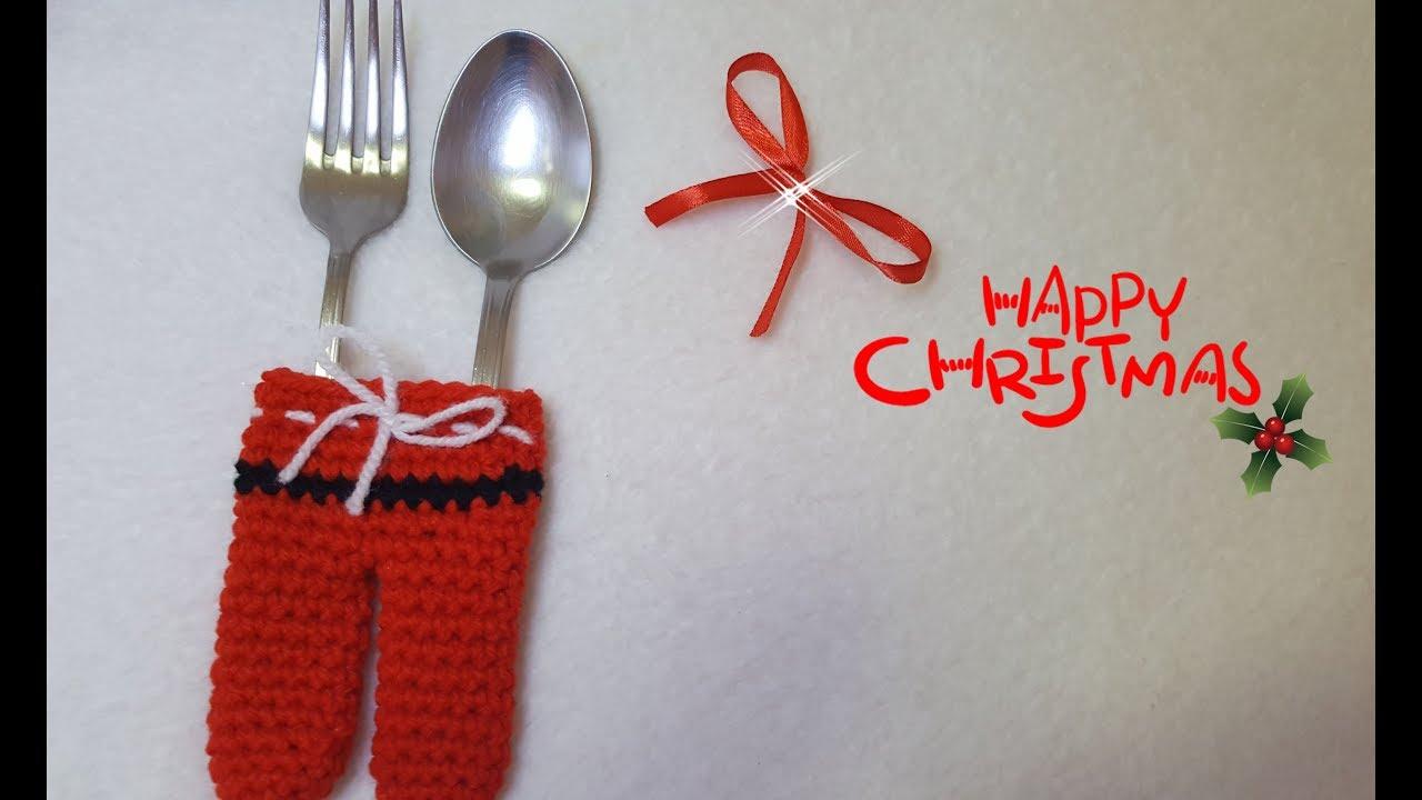 Segnaposto Natalizi Alluncinetto.Segnaposto Di Natale All Uncinetto Christmas Christmas Placeholder Easy Tutorial