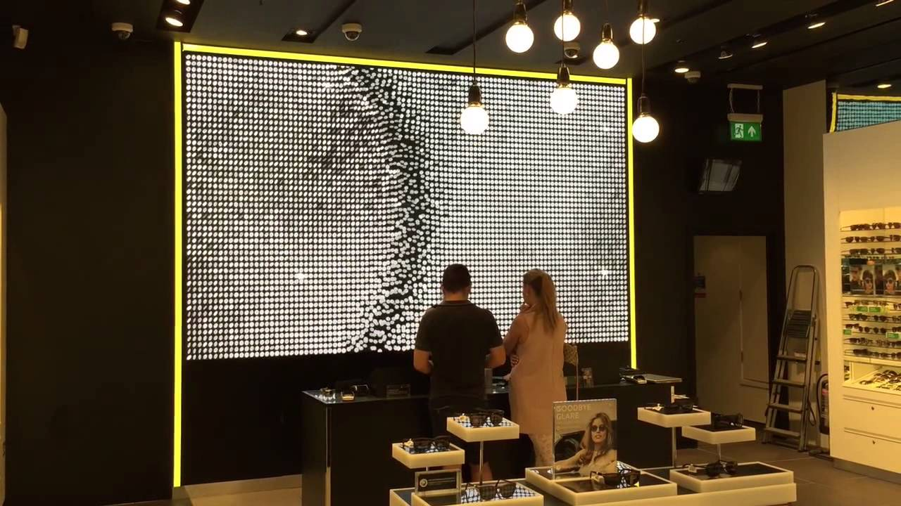148537a92c High Quality P3 LED Video Display Wall in Westfield Sunglass Hut - YouTube