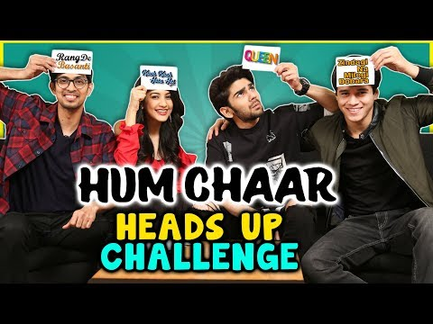 Hum CHAAR Cast Takes HEADS UP Challenge On BOLLYWOOD Movies