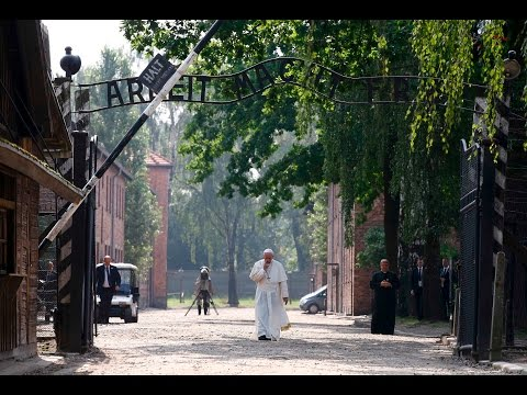 Pope Francis visits Auschwitz death camp and meets survivors
