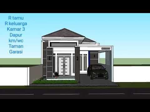 desain rumah minimalis terbaru 2020 lahan 6x13 #sandy