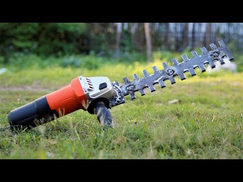 Angle Grinder Hack, How to Make a Simple Hedge Trimmer. | DIY |