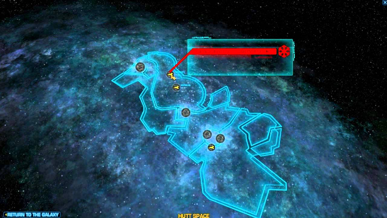 SWTOR Beta Tour of the Galaxy Map
