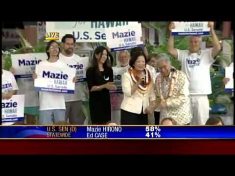 Mazie Hirono honors former Senator Daniel Akaka