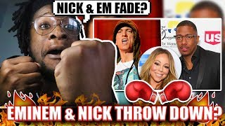 Eminem and Nick Cannon Almost Throw Hands !