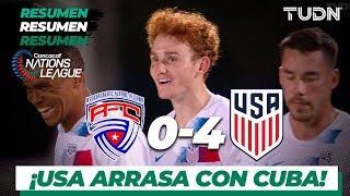 Resumen y Goles | Cuba 0 - 4 USA | CONCACAF Nations League | Jornada 6 | TUDN