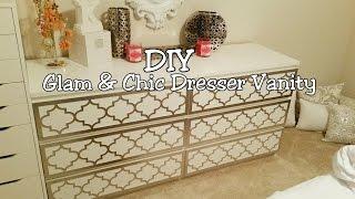 DIY Glam & Chic Dresser Vanity/ MsAppQueen