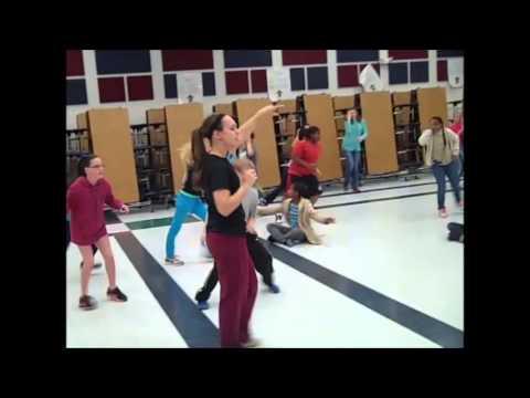 Hannah Williams teaching an elementary fitness lesson plan