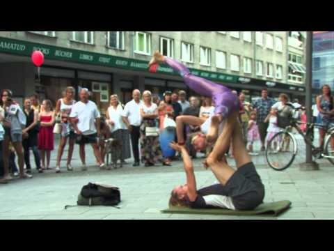 Acro Yoga duo Silvester - Silver and Ester at Tallinn Old Town Days