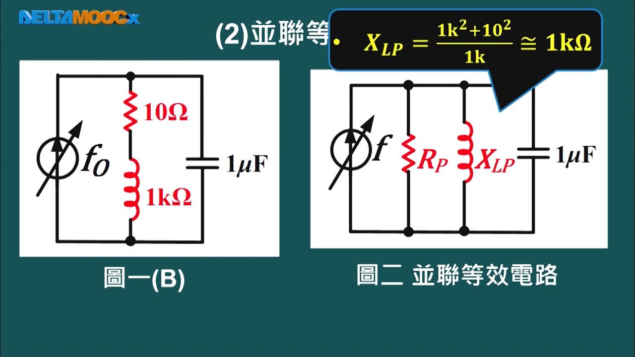 高中 陳政旭 基本電學 Unit11 6 PART B 範例一 R L C串並聯諧振電路一 1080 1080807 - YouTube