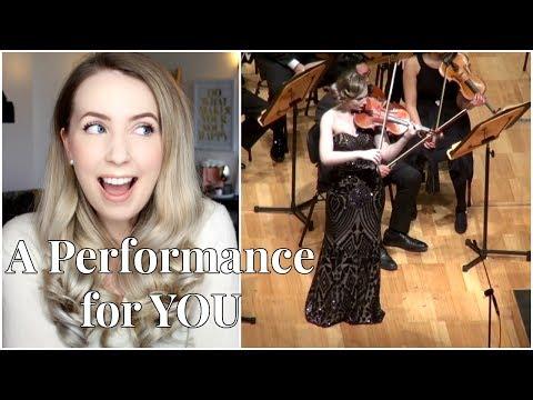 Watch Me Perform on my Violin!! My PhD Performance