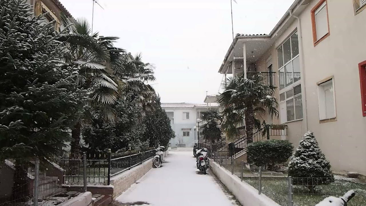 Αποτέλεσμα εικόνας για κομοτηνη χιονισμενη