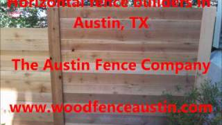 Horizontal Fence Builders In Austin Tx 512-662-7415