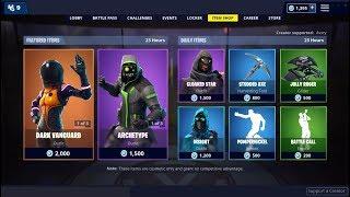 Dark Vanguard and Archetype Skin (Back)! Fortnite Item Shop January 29, 2019