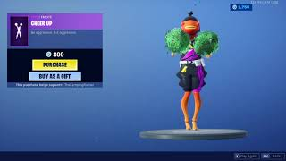 "Fortnite: Item Shop/ ""Fishstick"" skin (World Cup) using the ""Cheer Up"" emote 