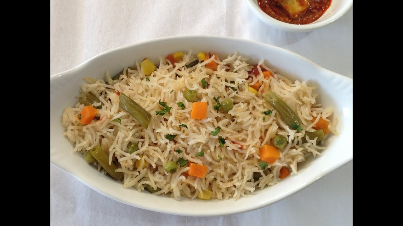 Vegetable pulao pilaf without onion and garlic recipe youtube forumfinder Choice Image