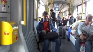 Tram ride in Warsaw, Poland