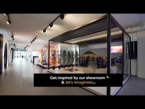 Aluvision showroom visit by Kanaal Z / Canal Z, a Belgian TV channel