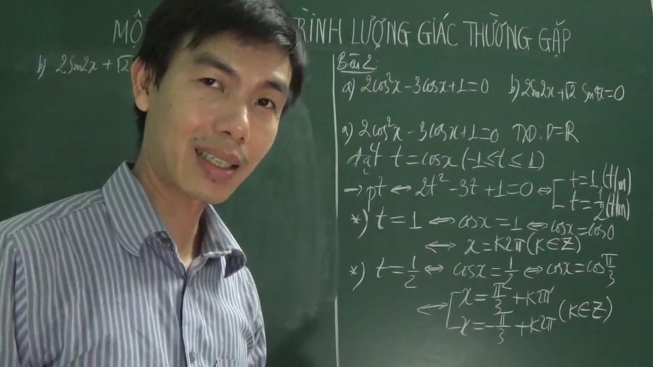 [Toán 11] – Một số phương trình lượng giác thường gặp (P2: bài tập cơ bản SGK)