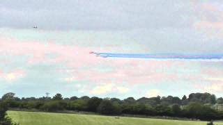 Red Arrows Flypast at Birmingham Airport 20th August 2014