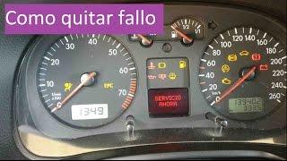 Quitar fallo de Servicio Ahora/Revisión del vehiculo | Golf 4 y otros