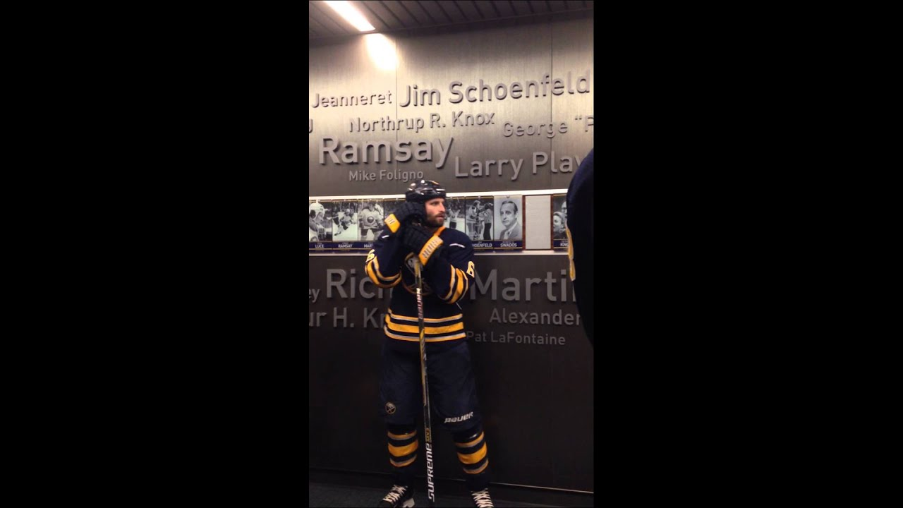 Buffalo Sabres Locker Room VIP Ropeline - YouTube