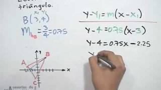 Ecuación de la altura en un triángulo - geometría analítica (PARTE 2)