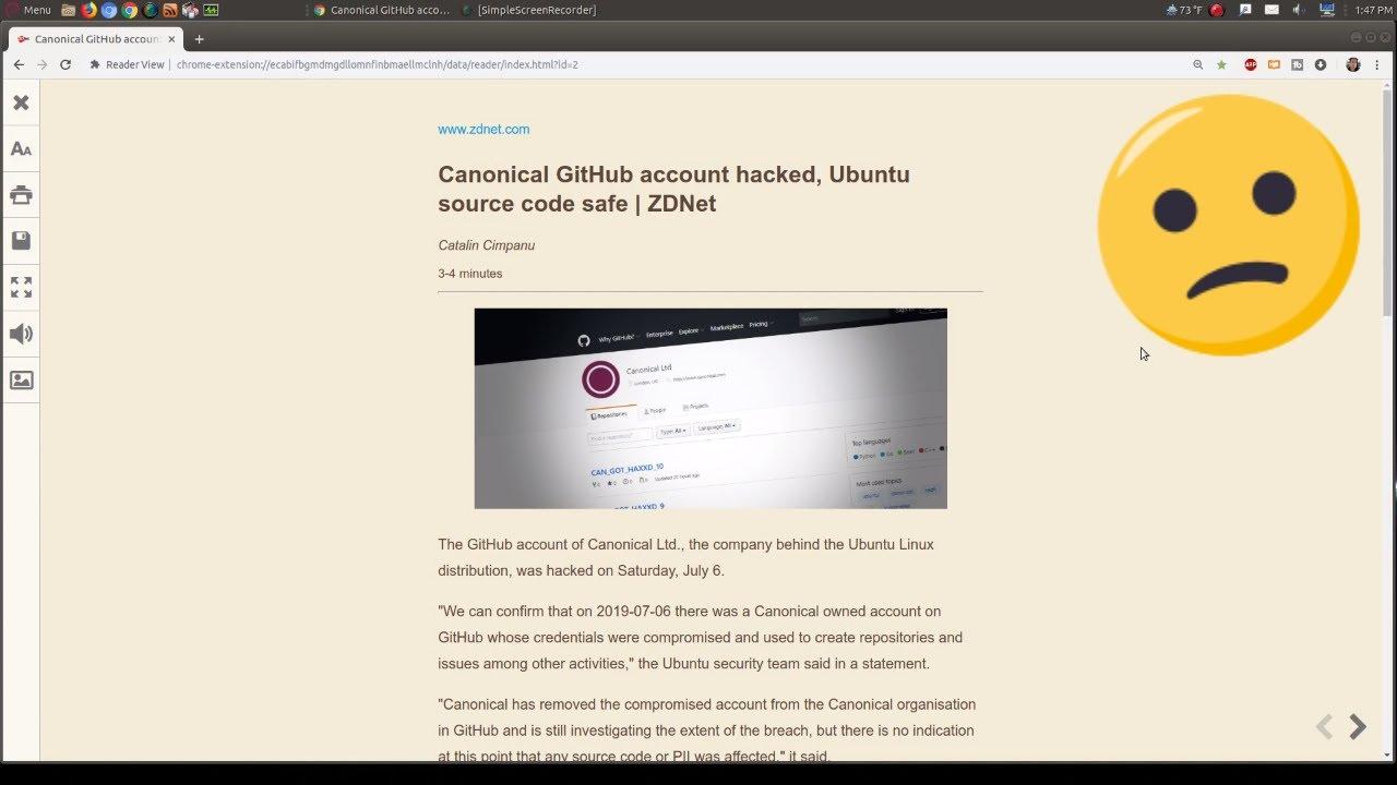 Breaking: Canonical GIthub Hacked