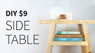 9 2X4 Side Table (free plans)