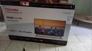 Toshiba 49u77 4K androidTV. Unboxing