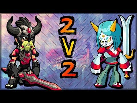 Climbing to Diamond in Ranked 2v2 w/ Zumwar • Brawlhalla 2v2 Gameplay