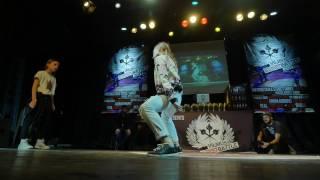 Hip Hop kids 1vs1 Ugne Tamuleviciute (LT) vs Atene Fedotovaite (LT) @Vilnius Street Battle 2017