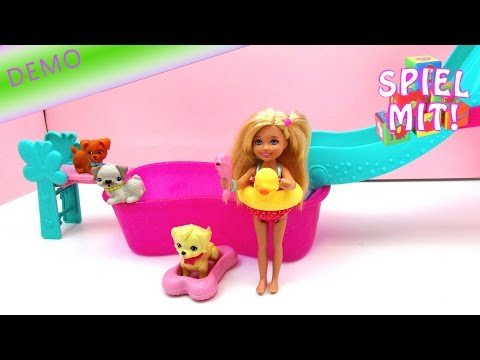 barbie pool party mit Hund: Hündchen macht einen Salto!  Flippin' Pup Pool