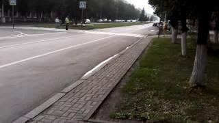 Кемерово. Кортеж тулеев. Пешеходов пресуют.
