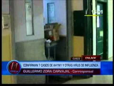Confirman siete casos de gripe AH1N1 en el Cuzco