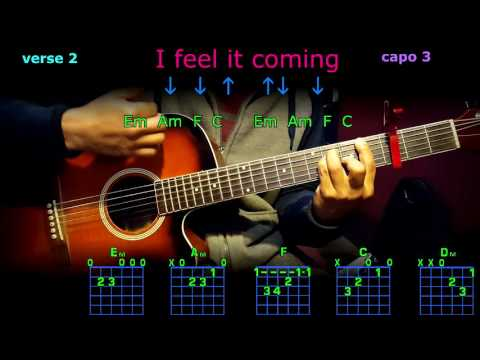 I feel it coming the weeknd guitar chords