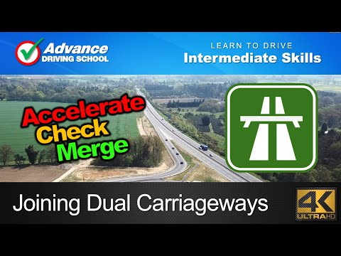 Joining Dual Carriageways From A Slip Road  |  Learning to drive: Intermediate Skills