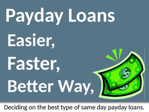 Same Day Payday Loans - Ideal Money Solution To Meet Cash Issues Today!