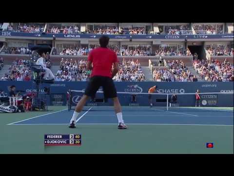 Roger Federer Vs Novak Djokovic - US Open 2009 SF Highlights HD