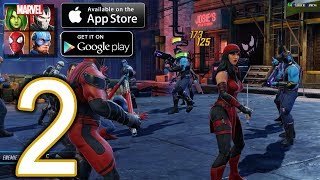 MARVEL Strike Force Heroes Android iOS Walkthrough - Part 2 - Heroes Assemble, Events: Elektra Assas
