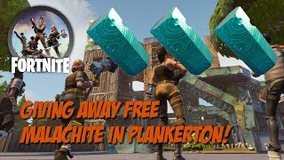 Fortnite StW - Giving Away Free Malachite in Plankerton!
