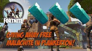 Fortnite StW - Giving Away Free Malachite in Plankerton!