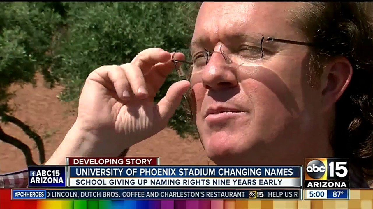 Arizona Cardinals changing name of University of Phoenix Stadium