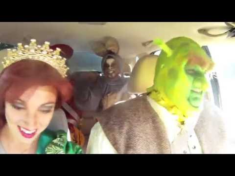 Carpool Karaoke with Shrek at HMT