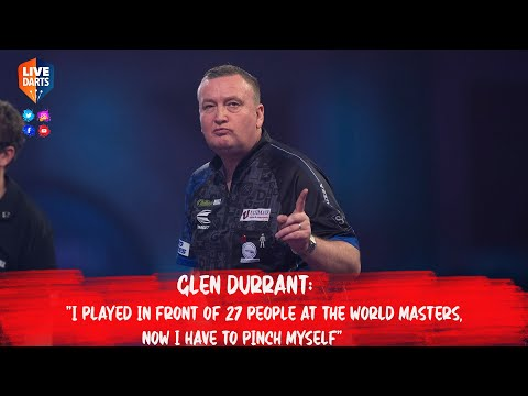 """Glen Durrant: """"I played in front of 27 people at the World Masters, now I have to pinch myself"""""""