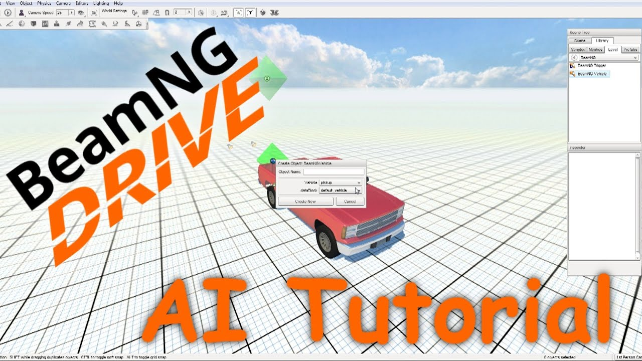 beamng drive tutorial ai and vehicle spawning youtube. Black Bedroom Furniture Sets. Home Design Ideas