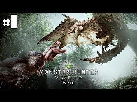 Monster Hunter World Beta - La première mission [HD]