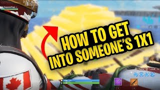 Two Tricks To Get Into Someone's 1x1 You Need To Learn! - Fortnite Battle Royale
