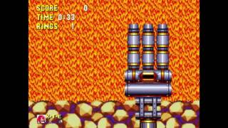 Sonic 3 and Knuckles - Lava Reef 1 Knuckles: 0:46 (Speed Run)