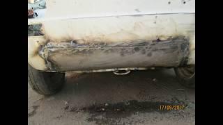 Fiat 126 Bis Ön Bagajın Altı  Ön Tampon Arkası   Kaporta Düzeltme